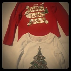 Toddler girls holiday tops
